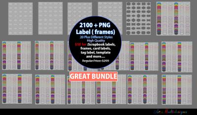 Label clipart bundle / digital label clipart bundle / frames bundle / high quality frames / digital frames clip art / label clipart