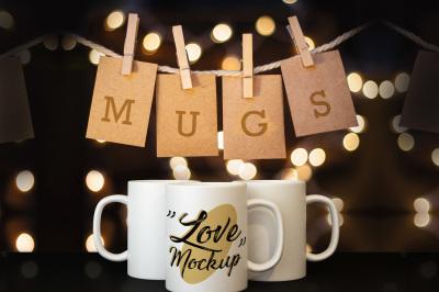 Mug mockup glam, psd, jpg