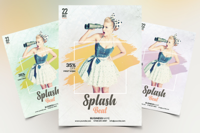 Splash Beat - Minimal PSD Flyer Template