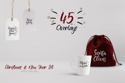 45 Christmas and New Year Overlays