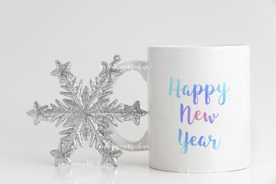 Winter Holiday coffee mug mock up minimal