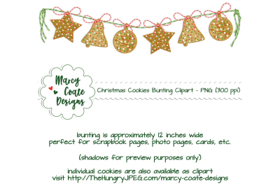 Christmas Cookies Bunting clipart
