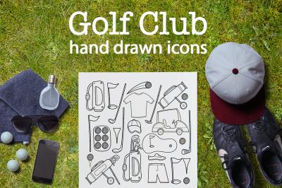 Golf Club | hand drawn icon