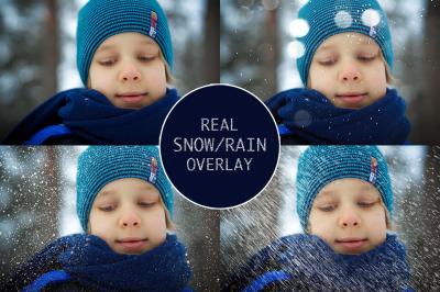 Real Snow-Rain overlays
