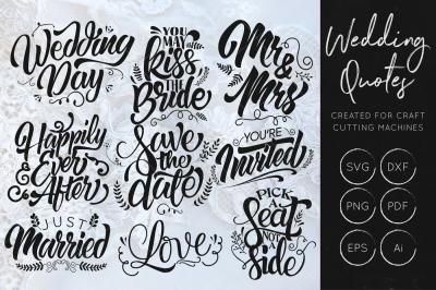 Wedding SVG Cut Files - Wedding SVG Bundle - Wedding Quote - Wedding SVG