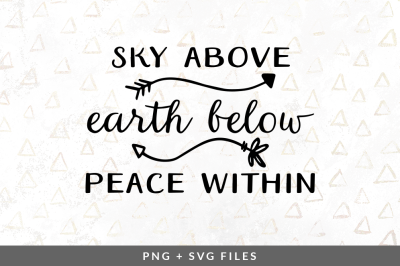 Sky Above Earth Below Peace Within SVG/PNG Graphic
