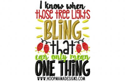 I know when those tree lights bling
