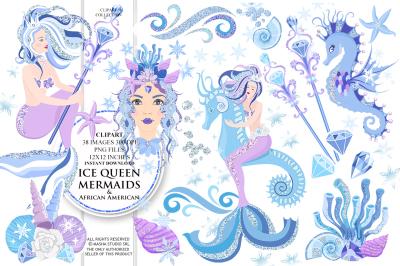 ICE QUEEN MERMAIDS clipart