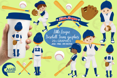 Little leage baseball team cliparts, graphics AMB-1227