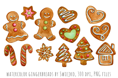 Gingerbread man clipart, christmas decoration