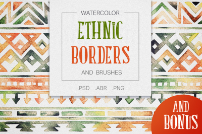 Ethnic borders and brushes