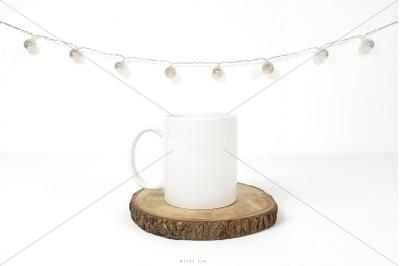White mug mockup, JPG & PSD