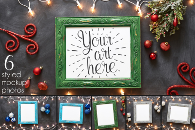 Deck the Halls Frame Mockups