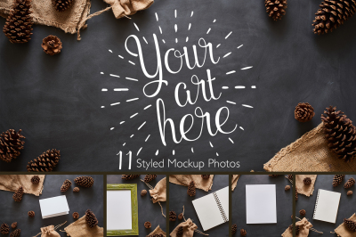 Autumn Burlap Mockup Photo Bundle