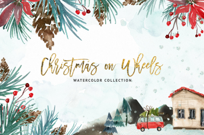 Watercolor Christmas on Wheels
