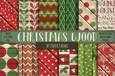 Rustic Christmas Wood