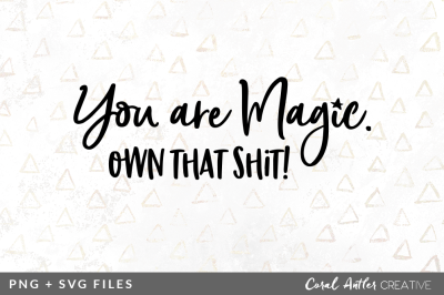 You are Magic Own that Shit SVG/PNG Graphic