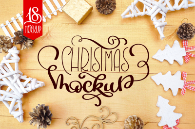 Christmas Mock Up Photos Collection 3