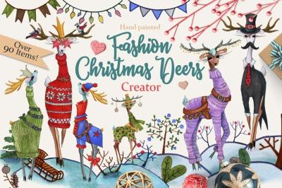 Fashion Christmas Deer Creator