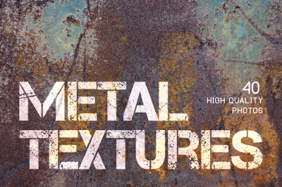Metal textures. 40 high quality photo backgrounds
