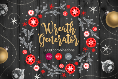 Wreath Generator - 5000 designs