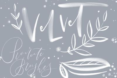 DEMO! Velvet. Procreate brushes for IPAD Lettering.