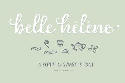 Belle Helene Script and Symbols Font