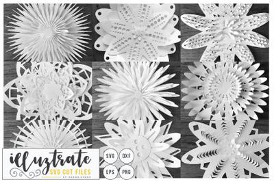 Flower SVG Cut File - Flower Bundle - 3D Flower SVG - Layered Flower DXF