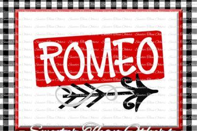 Romeo Svg Valentines Day svg, Silhouette Valentines svg, Dxf Silhouette, Cameo Cricut cut file INSTANT DOWNLOAD, Vinyl Design Htv Scal Mtc