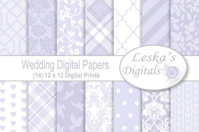 Lavender Wedding Scrapbook Paper