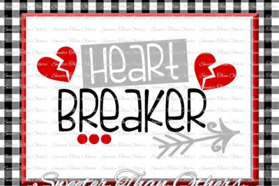 Heartbreaker Svg Silhouette Valentines svg, Dxf Silhouette, Cameo Cricut cut file INSTANT DOWNLOAD, Vinyl Design, Htv Scal Mtc