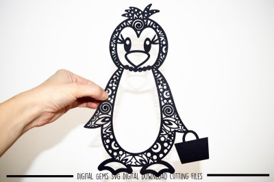 Mrs Penguin SVG / DXF / EPS Files