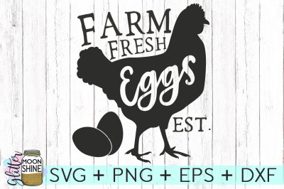 Farm Fresh Eggs SVG PNG DXF EPS Cutting File