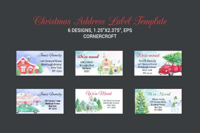 Christmas Address Label Template