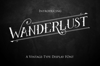 Wanderlust-Vintage style display font