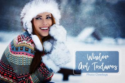 26 Winter Art Texture Overlays