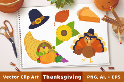 Thanksgiving Clipart, Turkey Clipart, Fall Clipart, Autumn Clipart