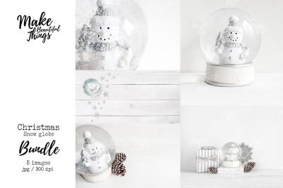 Snow globe stock photo bundle #9205