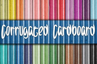 Corrugated Cardboard Digital Paper Textures