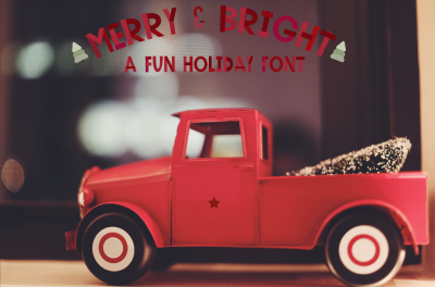 Merry & Bright - a handmade colored font!