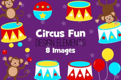 Circus Fun Design Elements, Clip Art