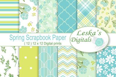 Spring Floral Digital Paper