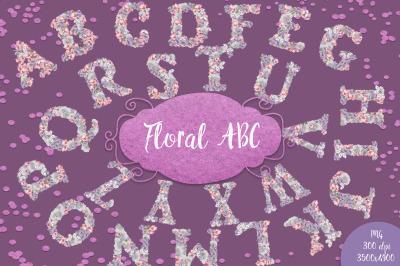A Floral ABC set