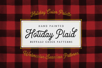 Holiday Hand Painted Buffalo Check + BONUS
