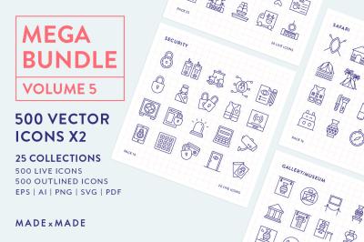 Line Icons – Mega Bundle Vol 5