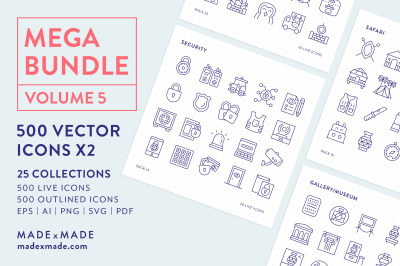Line Icons – Mega Bundle Vol 5
