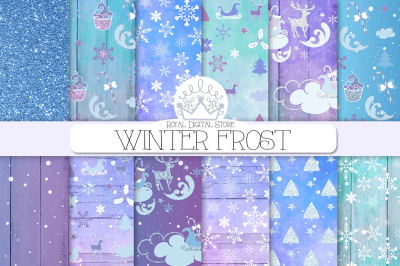 WINTER WATERCOLOR digital paper