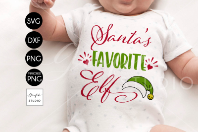 Santa's Favorite Elf CHRISTMAS SVG File, DXF file, PNG file