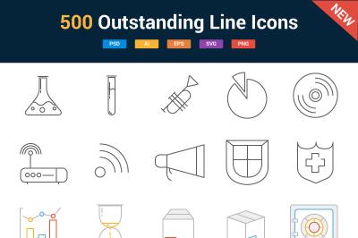500 Line Icons