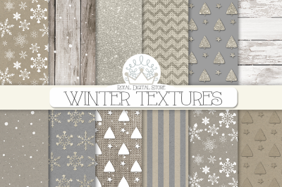 WINTER TEXTURES digital paper